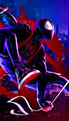 Miles Morales - Ultimate Spider-Man, Into the Spider-Verse Black Spiderman, Spiderman Spider, Amazing Spiderman, Marvel Comics Art, Marvel Heroes, Marvel Avengers, Ms Marvel, Captain Marvel, Miles Morales Spiderman
