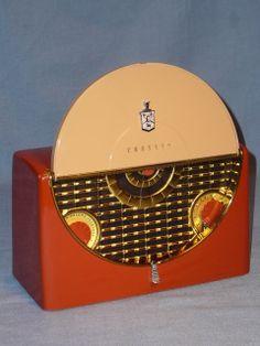 Ever So Cool Crosley 11 304U Portable Tube Radio Works and Gorgeous   eBay