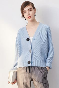 Retro Three Button Knit Cardigan TP1510 – FEW MODA