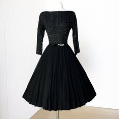 vintage 1950's dress ...sculpted charm LORA LENOX sage by traven7