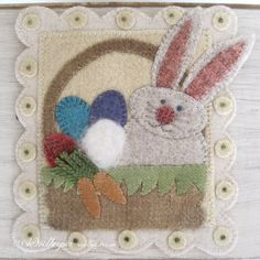Like: the bunny, the carrots, the embellishment of the scalloped edge.