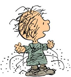 """Pig-Pen"" is a major character in the Peanuts comic strip by Charles M. He is best known as the character with a cloud of dirt that constantly surrounds him. I love Pig-Pen! Snoopy Love, Charlie Brown Et Snoopy, Charlie Brown Christmas, Snoopy And Woodstock, Peanuts Christmas, Charlie Brown Characters, Peanuts Characters, Cartoon Characters, Childhood Characters"