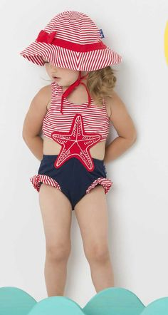 d402033a45f05 A one piece girls swimsuit that looks like a two piece! For a look that's