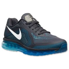 Men's Nike Air Max 2014 Running Shoes | Finish Line | Anthracite/Reflect Silver/Photo Blue