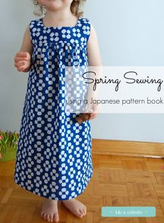 Sewing a Spring dress using a pattern from Sew Chic Kids