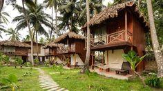 Best Hotels in Andaman, Resort in Andaman, Beach Hotel Jungle Resort, Tropical Beach Houses, Hut House, Jungle House, Tropical Architecture, Bamboo House, Beach Bungalows, Beach Cottages, Beach Huts
