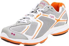 Ryka Women's Devotion Athletic,Chrome Silver/White/Shock Orange/Bougainvillea,8.5 B US Synthetic/air mesh upper. Ortholite footbed. Molded EVA midsole. Rubber outsole. K24131W.  #Ryka #Shoes