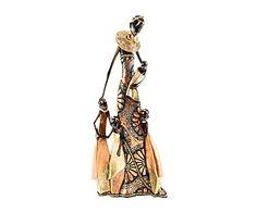 Figura africana en resina Familia