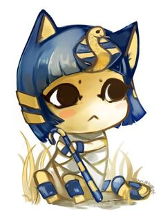 Ankha One of my Most Favorite =^T^=  Just an adorable pic. <3