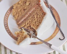 Quadruple Vanilla Bean Layer Cake with a Classic Vanilla Bean (made brown rice flour & oat flour)