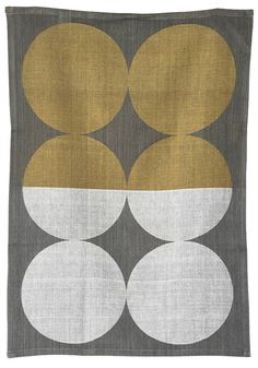 I love this—it would look great in the kitchen too ... :) Moon Tea Towel