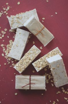 Easy Homemade  Melt and Pour Oatmeal Soap Recipe