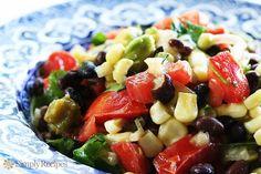 Cool Black Bean Salad from www.recipesoftheday.com