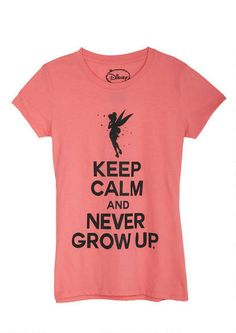 Keep Calm And Never Grow Up Tee - View All Graphic Tees - Graphic Tees - Clothing - dELiA*s