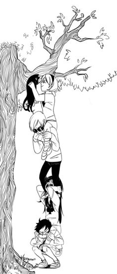actually, I like this because of how they drew the tree. though these kids are kinda young here. would be a cute flashback stuff, but idk how we'd approach a flashback or if we even need one.....