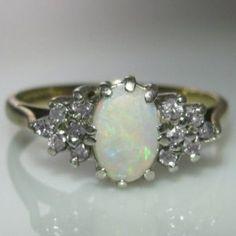 #Vintage #Opal & #Diamond #Ring €695 #Jewelry #The #Antiques #Room #Galway #Ireland Diamond Rings, Diamond Engagement Rings, Gemstone Rings, Silver Rings, Engagement Jewelry, Vintage Diamond, Vintage Rings, Vintage Jewelry, Gemstone Colors