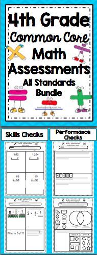 4th Grade Math Assessments - All Standards Bundle - This pack contains 2 assessments for each of the 4th Grade Common Core Math Standards. Wow! $