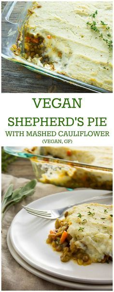 Hearty and satisfying plant-based comfort food. This vegan shepherd's pie with mashed cauliflower is so deliciously savory and perfect to enjoy on cold winter's night.