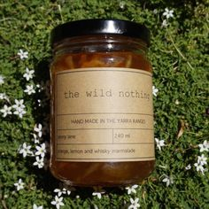 This is our spring time marmalade, made with orange, home-grown lemons, and whiskey.  whiskey in marmalade?  yes!!  why this isn't more common is beyond us!!