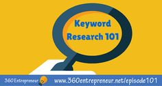 Today's episode is a crash course on keyword research! I discuss the importance of choosing the right keywords and talk about tools & strategies to do that Top Entrepreneurs, Today Episode, Research, Online Marketing, Blogging, Author, Search, Writers, Science Inquiry