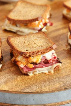 Perfect for game day, mini reuben sandwiches topped with a spicy russian dressing have big, bold flavor everyone will love. | The Suburban Soapbox