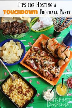 Touchdown Party Tips + Easy Football Party Food - perfect for Superbowl Sunday or just a family Football watching party!    at B-Inspired Mama - #ad #SaveALotInsiders /savealot/
