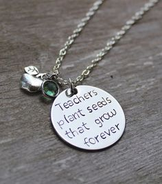 Show your favorite teacher how much you appreciate them with this hand stamped…