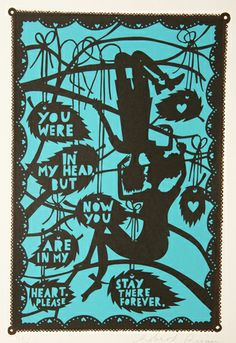 I love Rob Ryan - after seeing an exhibition at the Yorkshire Sculpture Park Rob Ryan, Friday Im In Love, Paper Artist, Wedding Paper, Paper Cutting, Cut Paper, Screen Printing, Creations, Artwork