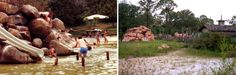 Disney's River Country, which opened in 1976 before and after photo's. It's now a watery ghost town.