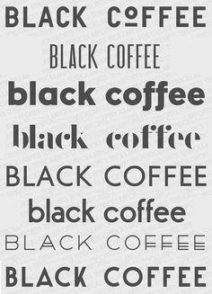 Coffee fonts.