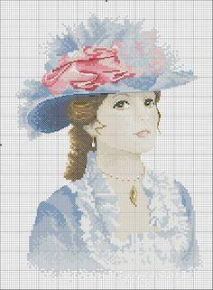 v klobouku dáma