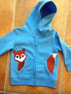 Fox in my Pocket Zip Up Hoodie/ Jacket/ Coat on Etsy, $26.00