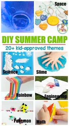 Create Lasting Summer Memories for Kids with a DIY Summer Camp Give your kids a memorable and screen-free summer with a DIY summer camp! Kids will love these hands-on summer camp themes filled with summer activities. Camping Activites For Kids, Preschool Summer Camp, Summer Camp Themes, Summer Camp Activities, Summer Camps For Kids, Camping Games, Camping Theme, Camping Crafts, Camping With Kids