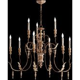 GREAT ROOM:  Found it at Wayfair - Salento 9 Light Transitional Chandelier, with acanthus leaves