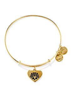 Boutique dos Relógios | Produtos | Joalharia / Bijoutaria | Alex and Ani | A&A Lotus Peace Petal heart GldBrac