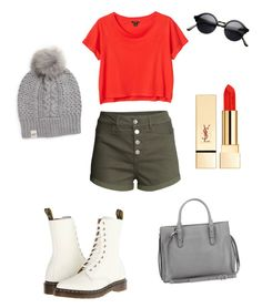 """""""cute Florida fall outfit"""" by a-50s-girl-at-heart0215 ❤ liked on Polyvore featuring beauty, H&M, Monki, Dr. Martens, UGG Australia, Balenciaga and PUR"""