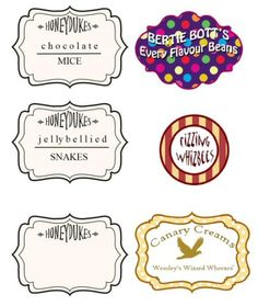 FREE Honeydukes sweets labels