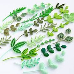 Green addiction . #quilling #green #papercraft