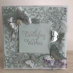 Stamps by Chloe - Butterfly Background Builder - - Stamps By Chloe Butterfly Background Builder - Chloes Creative Cards Butterfly Birthday Cards, Butterfly Cards, Chloes Creative Cards, Stamps By Chloe, Butterfly Background, Sue Wilson, Beautiful Butterflies, Die Cutting, Mini Albums