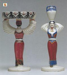 Sardegna DigitalLibrary - Immagini - Donna con cesto e Donna con anfora, Melis Federico