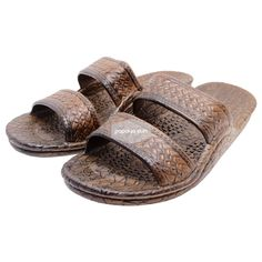 "b8cafa46a Classic Dark Brown ""Hawaiian Jandals"" Pali Hawaii Jesus Sandals"