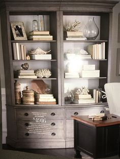 Ethan Allen Villa open bookcase and file cabinet base.