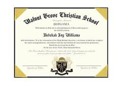 This 6x8 diploma is offered with your choice of four wording options, two papers and 4 engraved seals!
