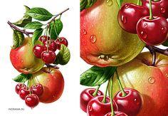 Иллюстрации для соков ROTTALER (ООО «Невские Молокопродукты»). http://www.nevcheeses.com
