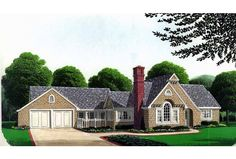 Build your ideal home with this Country house plan with 3 bedrooms(s), 3 bathroom(s), 1 story, and 1736 total square feet from Eplans exclusive assortment of house plans. Bungalow Style House, Bungalow House Plans, Craftsman House Plans, Bungalow Exterior, Victorian House Plans, Victorian Design, Victorian Houses, French Country House Plans, Monster House Plans