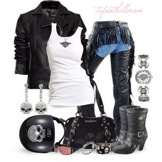 Born to Ride - Bad to the Bone by tufootballmom on Polyvore