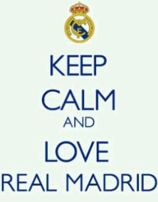 keep calm .... and enjoy REAL MADRID CF