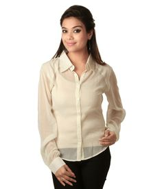 Sapphire House of Fashion Beige Solids Cotton Full Regular Collar Shirts  SELLING PRICE Rs 799 Visit Us:-http://goo.gl/mnfxsA