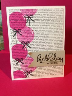 Samanthas Cards: Birthday wishes