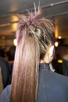 Sebastian Styles Backstage at Greta Constantine F/W13 #fall #fierce #hair